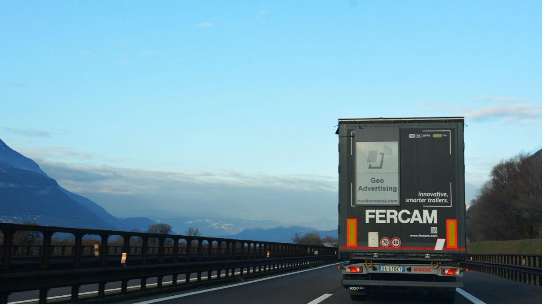 FERCAM Future Labs punta su Truckscreenia per l'advertising in movimento del futuro